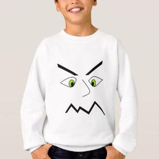 重点を置かれた気難しいストレスの顔のデザイン スウェットシャツ