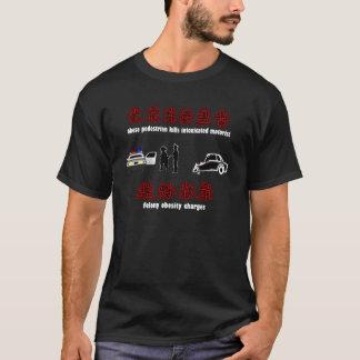 重罪の肥満の漢字 Tシャツ
