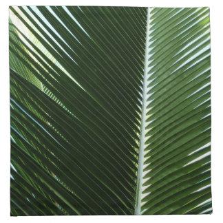 重複のやし葉状体の熱帯緑の抽象芸術 ナプキンクロス