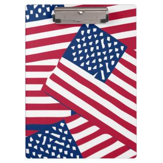 重複の米国旗 クリップボード