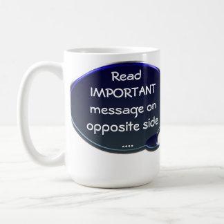 重要なメッセージのマグ ベーシックホワイトマグカップ