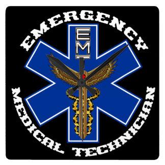 重要な医学EMTの普遍的な眺めのノート スクエア壁時計