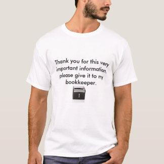 重要な文書 Tシャツ