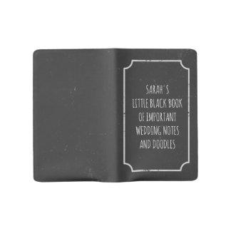 重要な結婚式のノートの少しブラックリスト ラージMoleskineノートブック