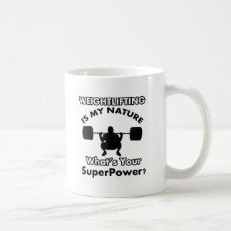 重量挙げのデザイン コーヒーマグカップ