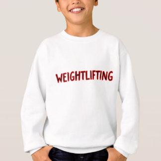 重量挙げのデザイン スウェットシャツ