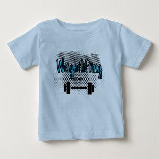 重量挙げのバー ベビーTシャツ
