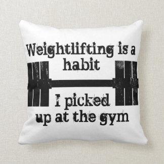 重量挙げの習慣 クッション