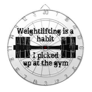 重量挙げの習慣 ダーツボード