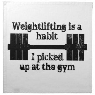 重量挙げの習慣 ナプキンクロス