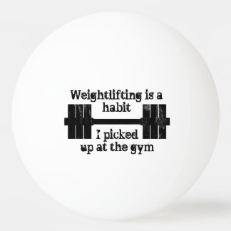 重量挙げの習慣 卓球ボール