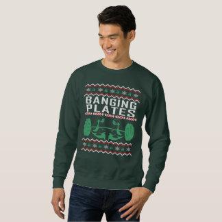 重量挙げの醜いクリスマスのセーター スウェットシャツ