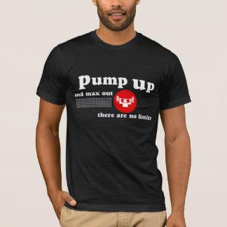 重量挙げのTシャツをポンプでくんで下さい Tシャツ