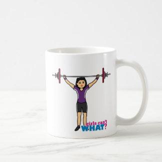 重量挙げ選手の女の子-媒体 コーヒーマグカップ