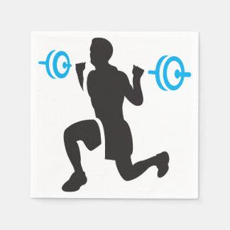 重量挙げ選手の紙ナプキン スタンダードカクテルナプキン