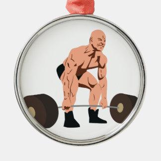 重量挙げ選手 メタルオーナメント
