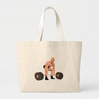 重量挙げ選手 ラージトートバッグ