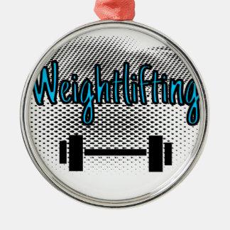 重量挙げ メタルオーナメント