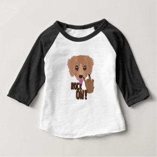重金属の子犬の石 ベビーTシャツ
