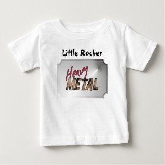 重金属の金属デザイン ベビーTシャツ