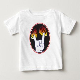 重金属手 ベビーTシャツ