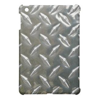重金属- Checkerplateアルミニウムの固まり iPad Miniケース