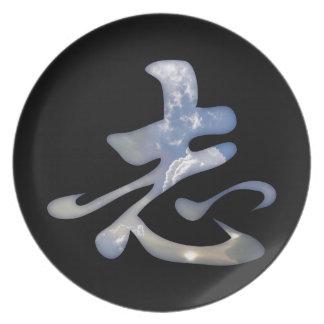 野心の漢字 プレート