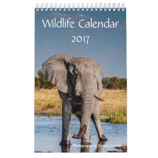 野性生物のカレンダー2017年 カレンダー