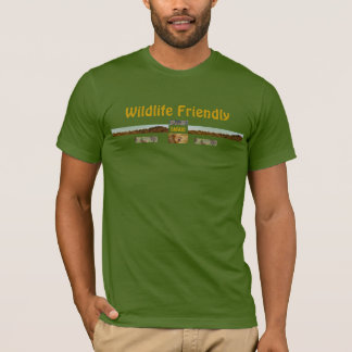 野性生物のフレンドリーなオリーブ色のワイシャツ Tシャツ
