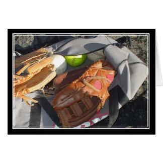 野球およびミットNotecard カード