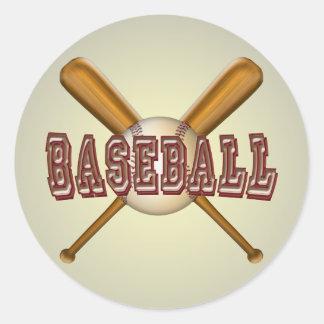 野球および交差させた野球用バット ラウンドシール