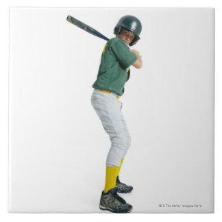 野球として服を着るコーカサス地方の男の子 タイル