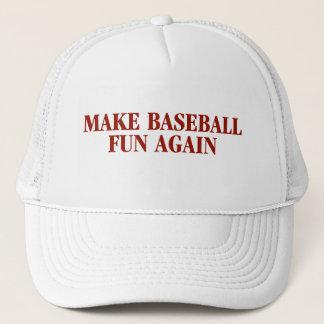 野球のおもしろいの帽子を再度作って下さい キャップ