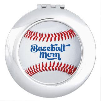 野球のお母さんのギフトのアイディアのコンパクトの鏡