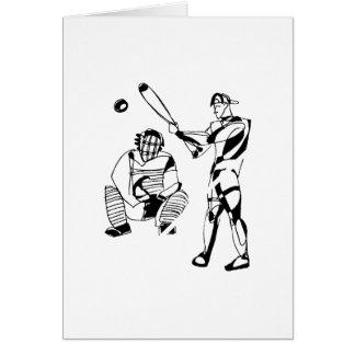 野球のねり粉のスケッチ カード