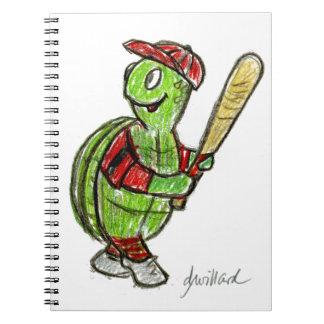 野球のカメのノート ノートブック