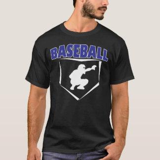 野球のキャッチャーのグラフィックのTシャツ Tシャツ