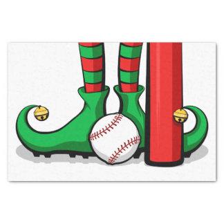 野球のクリスマスの小妖精や小人の足のティッシュペーパー 薄葉紙