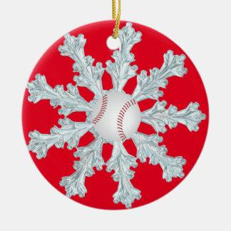 野球のクリスマス セラミックオーナメント