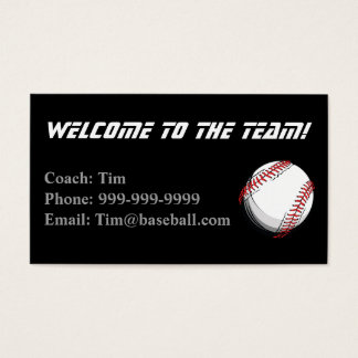 野球のコーチの接触カード 名刺