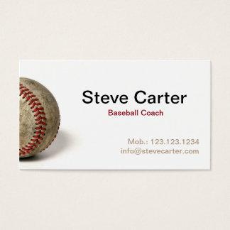 野球のコーチまたはプレーヤーカード 名刺