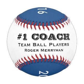 野球のコーチ-青の#1コーチのためのギフト 野球ボール