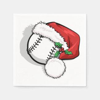 野球のサンタの帽子 スタンダードカクテルナプキン