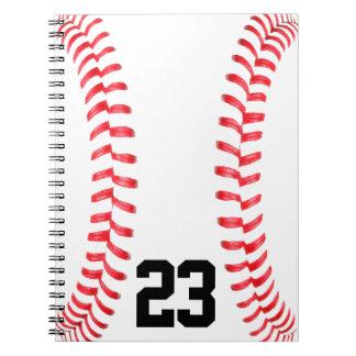 野球のステッチ及びカスタムなジャージー数ノート ノートブック