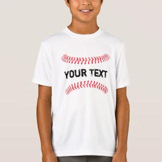 野球のステッチ4の継ぎ目の速球の男の子のTシャツ Tシャツ