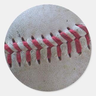 野球のステッチ ラウンドシール