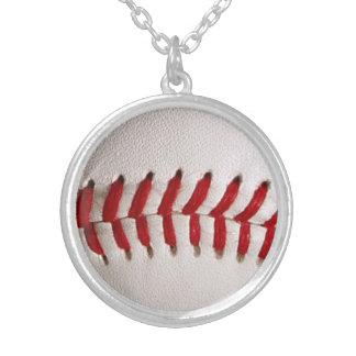 野球のスポーツ シルバープレートネックレス