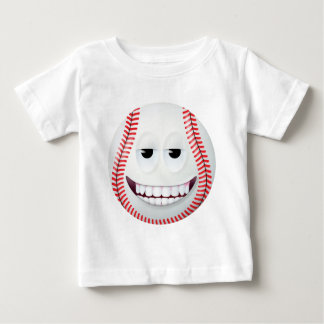 野球のスマイリーフェイス2 ベビーTシャツ