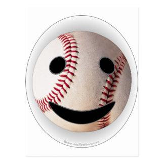 野球のスマイリーマークはあなたの単語を加えます はがき