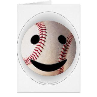 野球のスマイリーマークはあなたの単語を加えます グリーティングカード